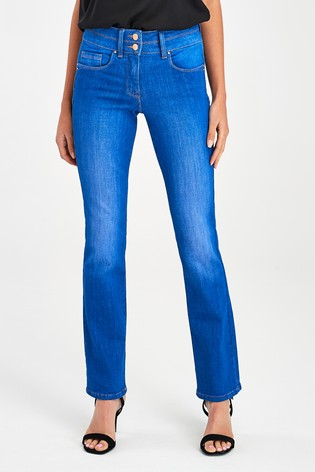 Bright Blue Lift, Slim And Shape Boot Cut Jeans