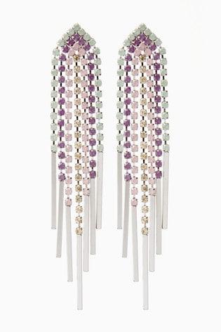 Multi Pastel Colour Chandelier Drop Earrings
