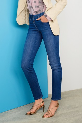 Bright Blue Lift, Slim And Shape Slim Jeans
