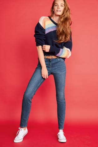 Mid Blue Skinny Jeans
