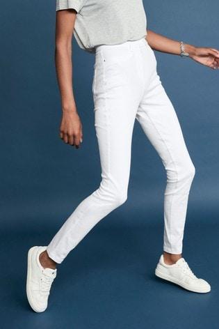 White Jersey Denim Leggings