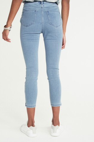 Bleach Wash Jersey Cropped Leggings