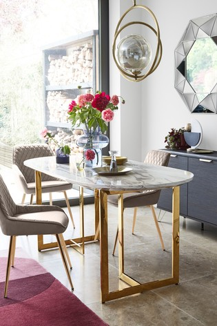 Solene 6 Seater Oval Dining Table