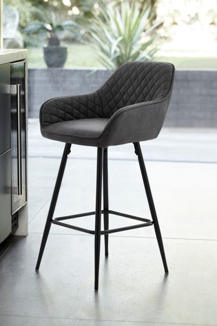 Hamilton Black Leg Bar Stool