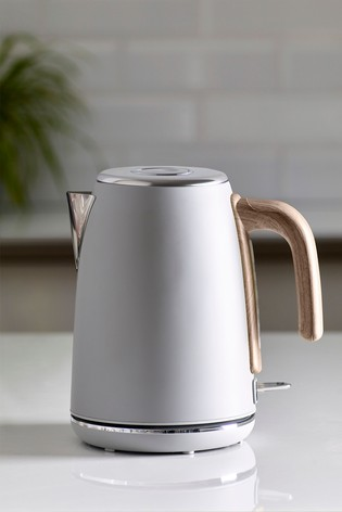 Grey With Wood Finish Detail Kettle