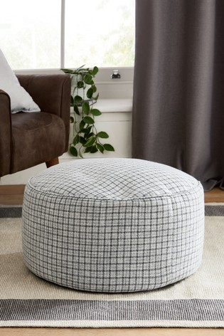 Houndstooth Check Pouffe