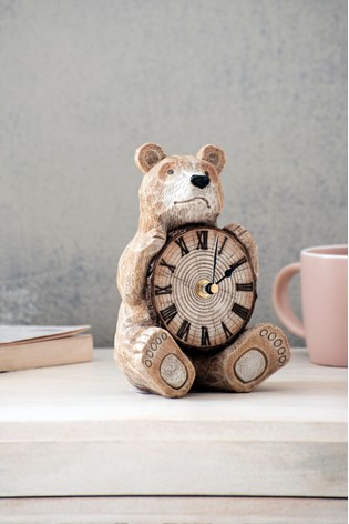 Novelty Bear Mantle Clock