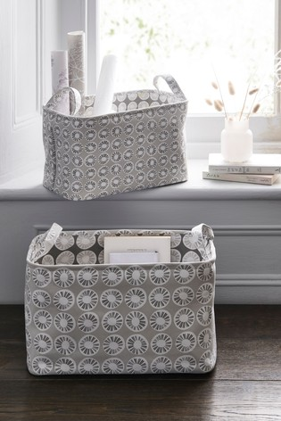 Set of 2 Carter Print Reversible Storage Baskets