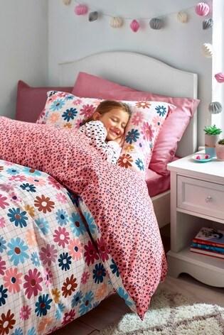 Floral Reversible Duvet Cover and Pillowcase Set
