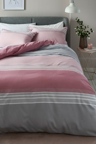Stripe Duvet Cover and Pillowcase Set