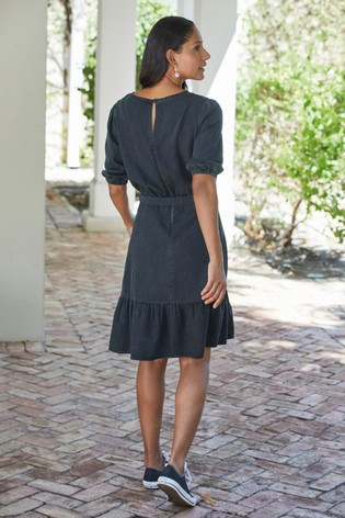 Navy Sparkle Belt TENCEL™ Dress