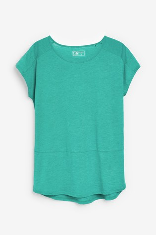 Teal Neppy Short Sleeve Sports Top