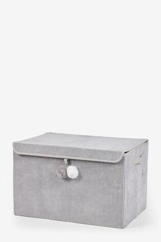 Large Pom Pom Corduroy Storage Box