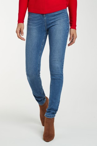 Mid Blue High Rise Skinny Jeans