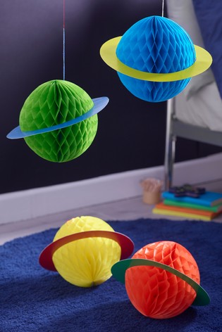 4 Pack Space Planets Hanging Decorations