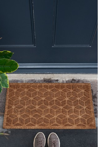 Buy Embossed Geo Doormat From The Next Uk Online Shop
