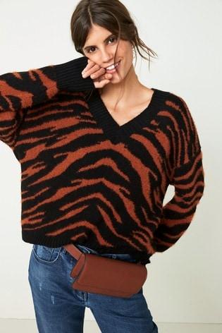 Buy Monochrome Mixed Animal Print Sweater from Next Ireland 7e7164e45