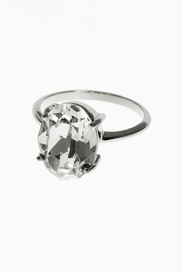 Sterling Silver Preciosa Mega Crystal Ring
