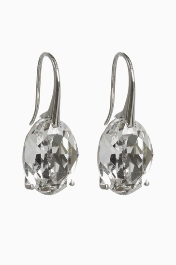 Sterling Silver Mega Preciosa Crystal Drop Earrings