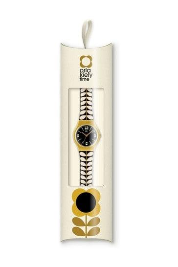 Orla Kiely Bobby Printed Strap Stem Print Watch