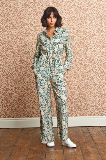 Ecru Floral All-Over Print Jumpsuit