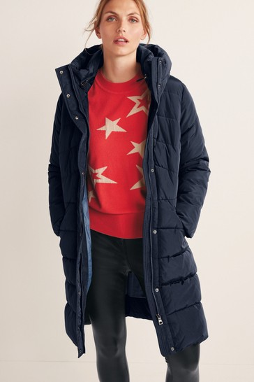 Navy Blue Recycled Padded Coat