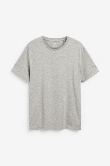 Grey Marl Regular Fit Crew Neck T-Shirt