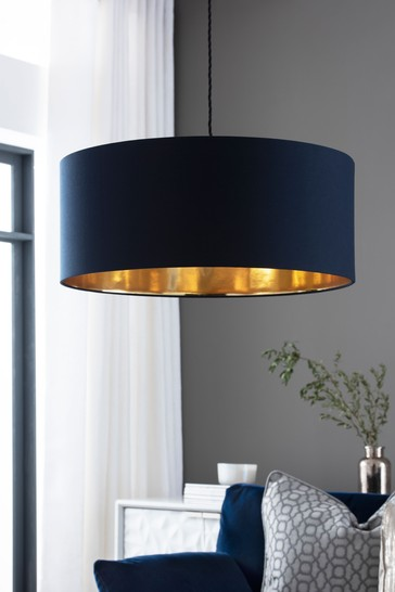 Navy Rico Easy Fit Pendant Lamp Shade