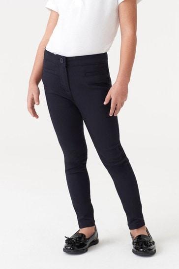 Navy Skinny Stretch Trousers (3-17yrs)