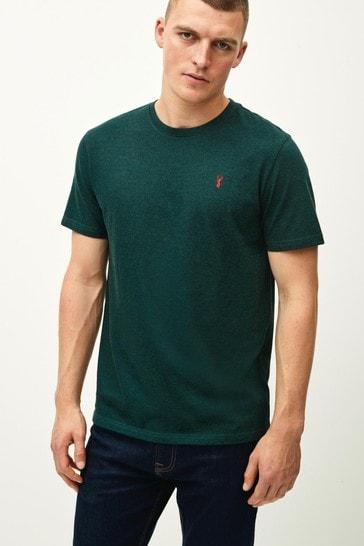 Green Marl Regular Fit Stag T-Shirt