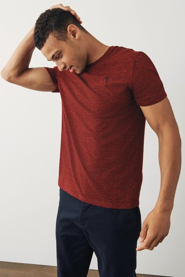 Red Marl Regular Fit Stag T-Shirt