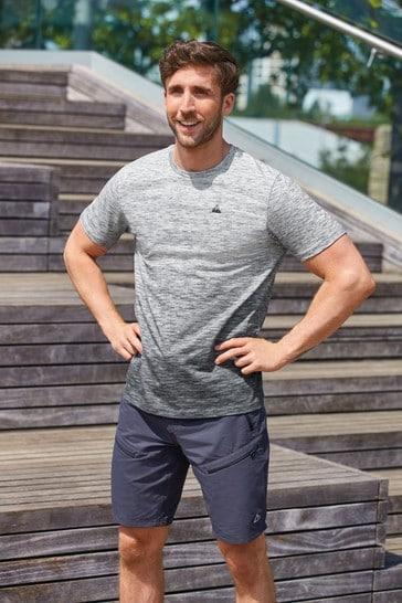 Grey Ombre Print Short Sleeve Tee Next Active Sports