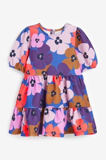 Multi Bright Floral Ponte Dress (3mths-7yrs)