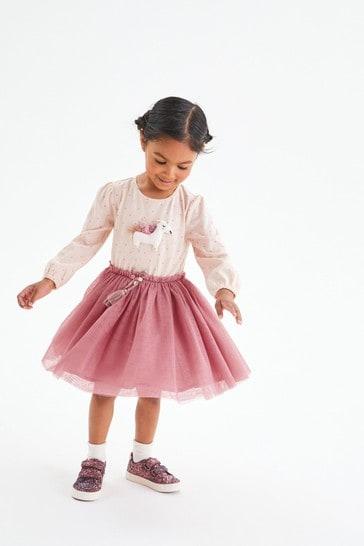 Pink Unicorn Party Dress (3mths-7yrs)