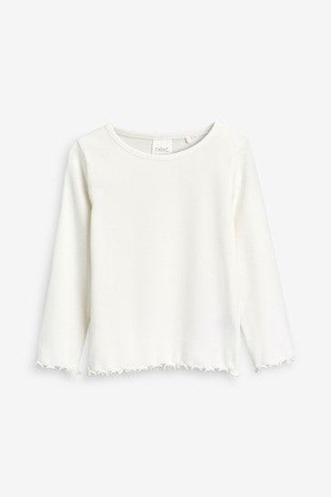 Ecru T-Shirt Rib Jersey (3mths-8yrs)
