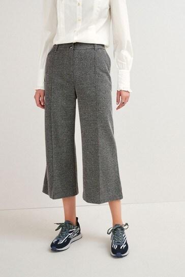 Grey Ponte Culottes