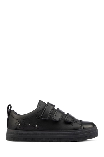 Clarks Black Leather Trainers