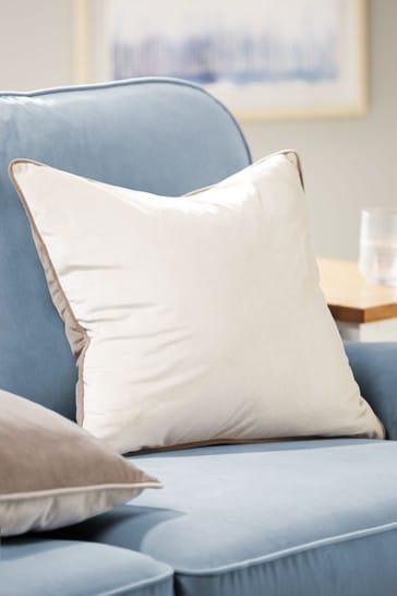 Natural Mila Twin Velvet Square Cushion