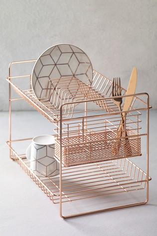 buy rose gold two tier drainer from the next uk online shop. Black Bedroom Furniture Sets. Home Design Ideas
