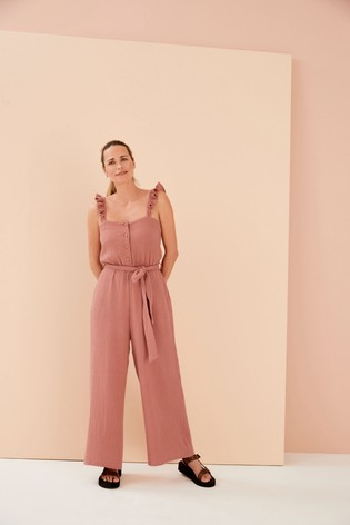 Rust Womens Matching Family Jumpsuit