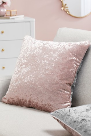 Twin Crushed Velvet Square Cushion