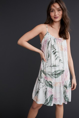 Green Floral Woven Slip