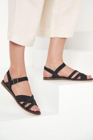 Navy Forever Comfort® Slotted Sandals