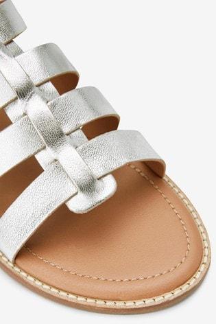 Silver Regular/Wide Fit Forever Comfort® Gladiator Sandals