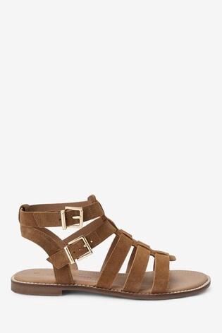 Tan Regular/Wide Fit Forever Comfort® Gladiator Sandals