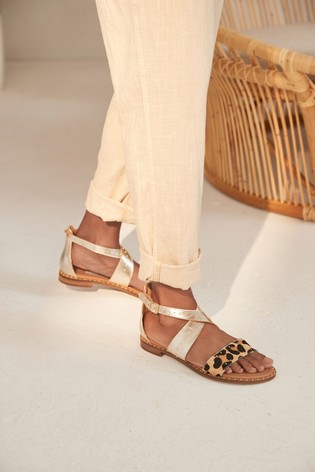 Animal Regular/Wide Fit Signature Comfort Studded Sandals
