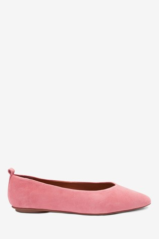 Pink Signature Forever Comfort® Leather Ballerina Shoes