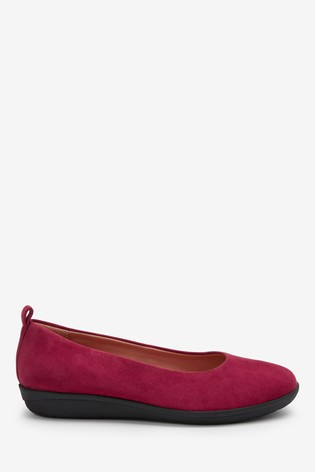 Red Suede Forever Comfort® With Motion Flex EVA Ballerina Shoes
