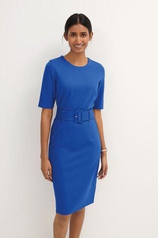 Cobalt Ponte Bodycon Dress