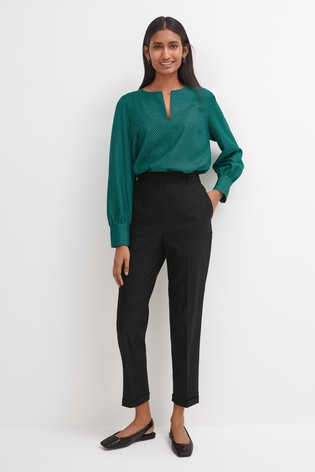 Black Tailored Taper Trousers